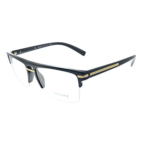 Versace Greca Aegis VE 3269 GB1 Black Plastic Square Eyeglasses 55mm
