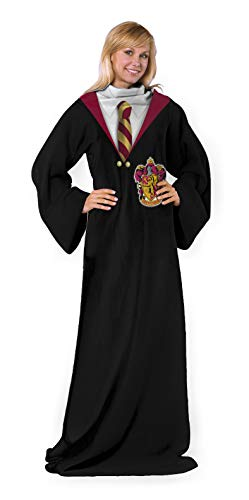 Harry Potter Comfy Throw Blanket with Sleeves, 48 x 71 Inches, Gryffindor Rules