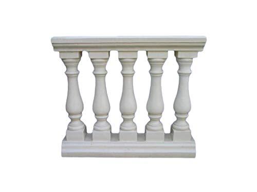 Balaustre monobloque de 5 columnas de cemento sin piedra ART-0926