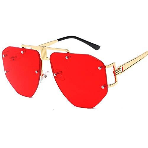 des Lunettes de Soleil Sunglasses Lunettes De Soleil Hommes Femmes Métal Mode Irrégulière Femme Mâle Lunettes Nuances Uv400 Lunettes Vintage 3