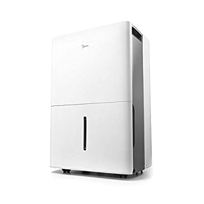 MIDEA MAD35C1ZWS Dehumidifier for up to 3000 Sq Ft with Reusable Air Filter, Ideal for Basement, Bedroom, Bathroom, 35 Pint-2019 DOE (Previous 50 Pint), White from Midea