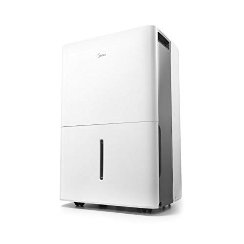 MIDEA MAD35C1ZWS Dehumidifier for up to 3000 Sq Ft with Reusable Air Filter, Ideal for Basement, Bedroom, Bathroom, 35 Pint-2019 DOE (Previous 50 Pint), White
