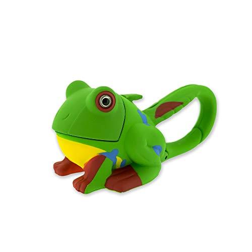 Sun Company Lifelight Animal Carabiner Flashlight | Mini Animal Keychain Flash Lights | for Kids, Nurses, Camping (Green Frog)