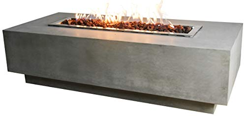 Granville Cast Concrete Natural Gas Fire Table by Elementi