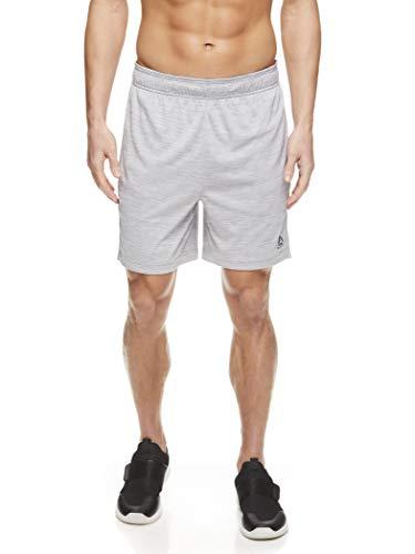 Reebok - Pantalones cortos con cordón para hombre, atléticos para correr y entrenar con bolsillos