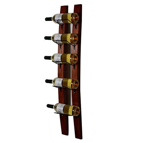 JIAHE115 Wijnrek woonkamermeubels wijnrek decoratieve houten palen wandbekleding bar restaurant made