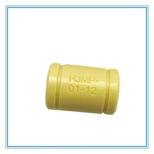 WNJ-TOOL, 10pcs 3D Printer Solid Polymer Bearing RJMP-01-06 RJMP-01-08 RJMP-01-10 RJMP-01-12 Plastic Linear Bearings For 3D Printer Parts (Size : RJMP 01 12)