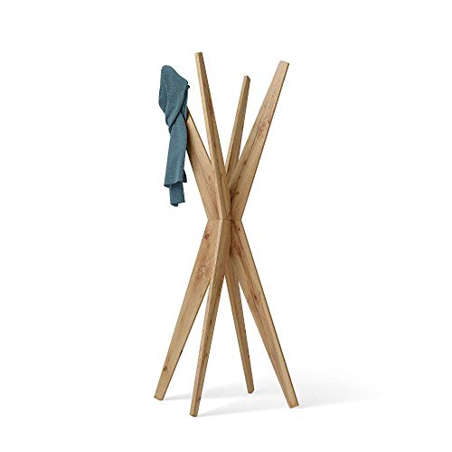 Mobili Fiver, Porte-Manteau sur Pied Design, Emma, Bois Rustique, 80 x 80 x 170,5 cm, Made in Italy