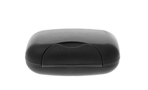 Lyuboov 1pcs Plastic Soap Case Porte-boîte Conteneur pour Les Voyages en Plein air Utilisation à la Maison (Black)