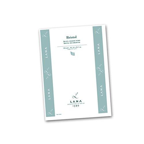 Zeichenblock Lana Bristolkarton 250g/qm A4, 20 Bl