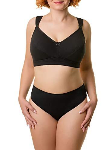 BaiBa Klassischer Schwangerschafts-/ Umstands-/ Still-BH ohne Bügel aus Baumwolle, Größe 105H 105 H, Farbe Schwarz