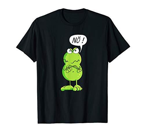 Statement Frosch T Shirt I Nö Funshirt I Nein T-Shirt