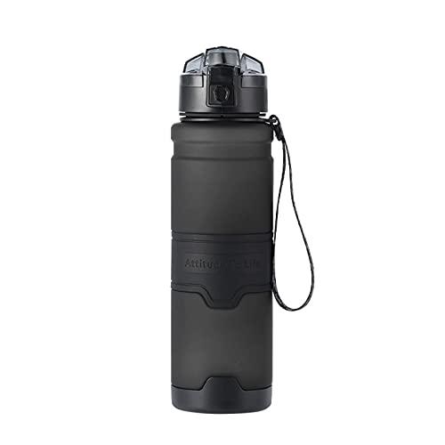 Botellas de Agua de 500 ml, Botella de Agua de plástico para Deportes, Botella de Agua para Ejercicios, Botella de Agua para Deportes al Aire Libre portátil, Senderismo, Bicicleta de montaña