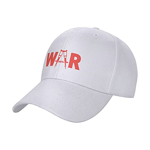Vuegzt Boné de corrida unissex antiguerra com veterano ajustável divertido bonés de golfe para homens e mulheres e tenagers preto, Branco, 1-4