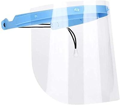 Itopfox Anti-Fog Full Face Shield 1 Frame with 10 Plastic Anti Saliva Protective Film Replaceable