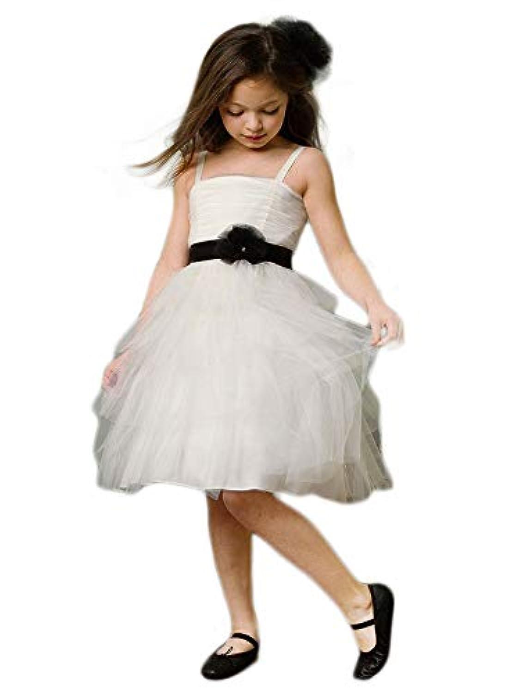 [即日納品 フラワーガールドレス 110-120サイズ] チュール リングガール 衣装 結婚式 キッズ 子供 女の子 フォーマル パーティー ピアノ 発表会 ジュニア ブライズメイド 白 アイボリー