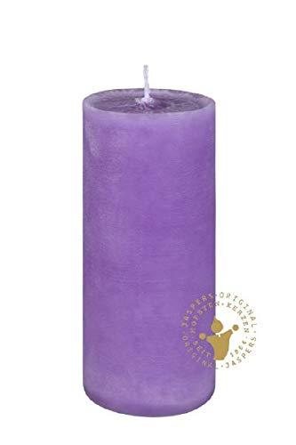 Rustik Kerzen, Nordische Reifkerzen, durchgefärbte Kerzen Violett Ø 80 x 200 mm, 1 Stück