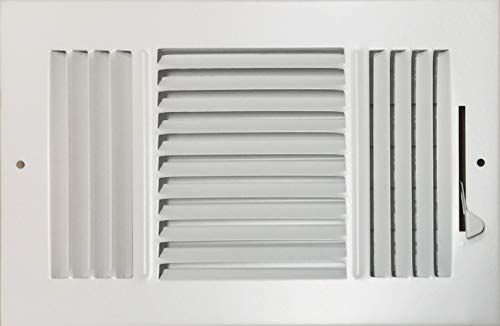 HBW 10'x 6' (Duct Opening Size) 3-Way Stamped Face Steel Ceiling/sidewall Air Supply Register - Vent Cover - Actual Outside Dimension 11.75' X 7.75'