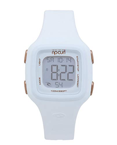 Rip Curl Women's 'Candy' Quartz Plastic and Silicone Sport Watch, Color:White (Model: A3126G-WHI)