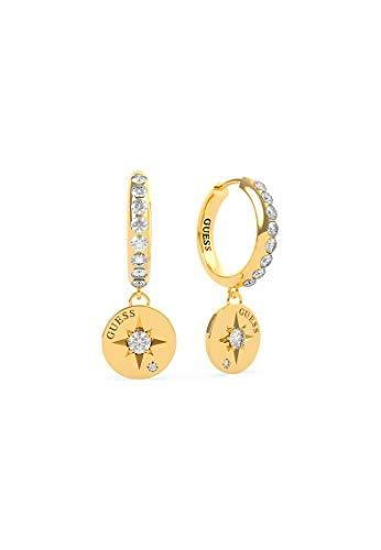 Guess Damen Compass Coin Edelstahl Swarovski-Kristall One Size Gold 32014010