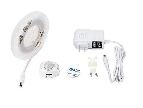 Bedlamp, Motion Activated Bed Light 4ft LED Strip met Bewegingssensor en Power Adapter, Slaapkamer Nachtlampje voor Baby, wieg, Bedkant, Trap, Kast en Badkamer (Warm Zachte Glow)