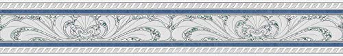 A.S. Création Bordüre Only Borders Borte 5,00 m x 0,10 m blau grau weiß Made in Germany 681645 6816-45