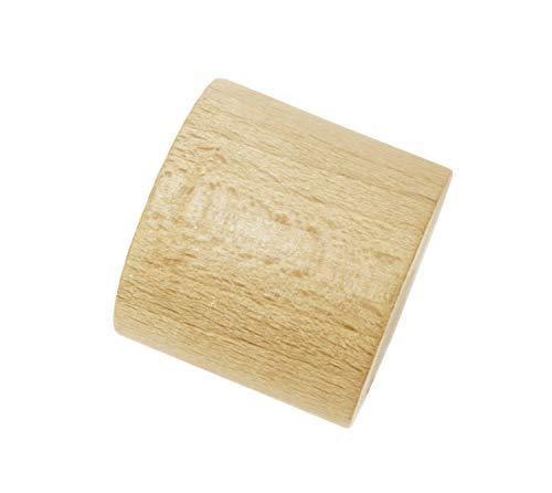 Gardinia Endstück, 2 x Endkappe, Holz, buche, für Gardinentechnik Ø 25 mm