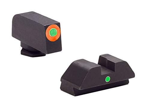 AmeriGlo Tritium I-Dot - Juego de vistas de contorno naranja para Glock 42/43