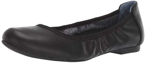 Dr. Scholl's Shoes womens Feel Good Ballet Flat, Black Smooth, 7.5 US