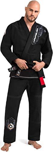 Hayabusa Warrior Gold Weave Jiu Jitsu Gi - Black, A0