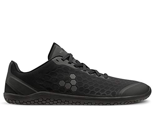 Vivobarefoot Stealth Iii Womens, Breathable Vegan Workout Shoe with Barefoot Sole Obsidian Black