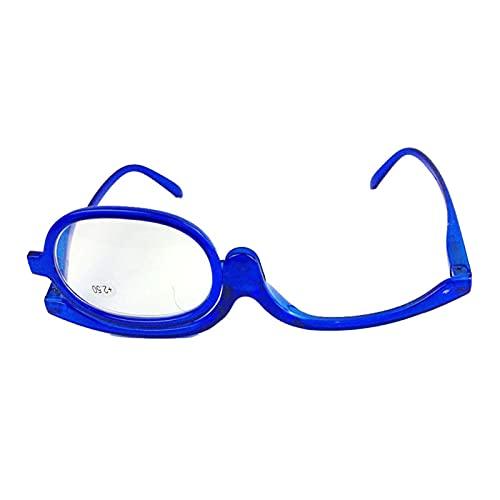 Gafas de Lectura para Mujer,Gafas de Lectura De Maquillaje,Lentes para Leer Giratorias de 180°,Lentes HD,Gafas de Montura Completa,UV400,Conveniente para GUE Las Personas Mayores Maquillen,+2.50