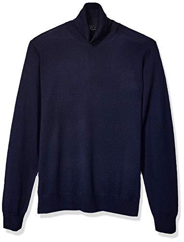 Amazon Brand - Goodthreads Men's Lightweight Merino Wool/Acrylic Turtleneck Sweater, Navy Small