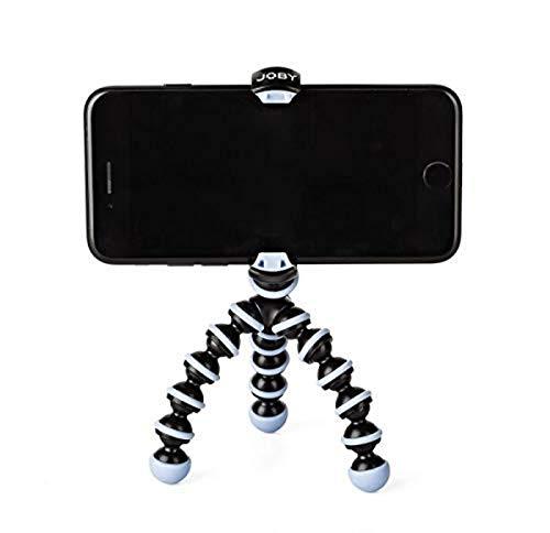 JOBY GorillaPod Mobile Mini, Trípode Flexible para teléfonos iPhones, Android y Windows Phone; para la Creación de Contenidos; Vlogging; Emisión en Directo; TIK Tok - Negro y Azul