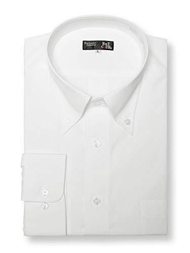 (サカゼン) B&T CLUB 大きいサイズ ワイシャツ 長袖 メンズ 形態安定 ボタンダウン ホワイト / 5L