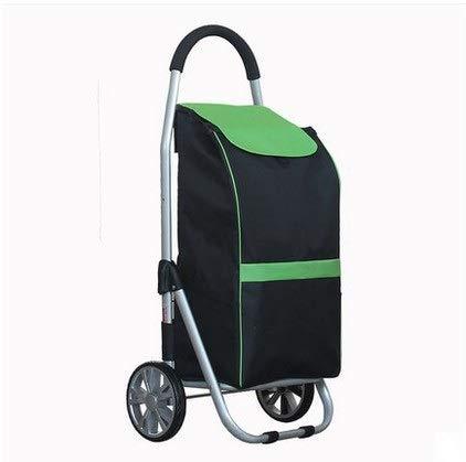 WLG Shopping Carts Für Lebensmittel Mit Rollen Trolley Aufstockung Beweglicher Falte Extra Large Aluminiumlegierung Kofferkuli Kleinen Lkw