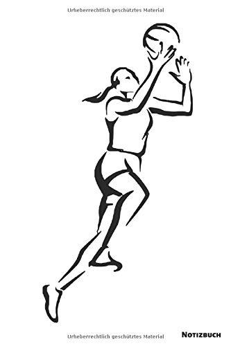 Notizbuch: Basketball Frau (liniert)