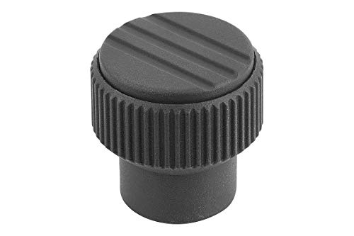 /Component M5/ /Thermoplastic/ /by k0247.105 /Black//Grey/ Toggle Internal Thread Knurled Knob/ /Stainless Steel/ /Size 1/