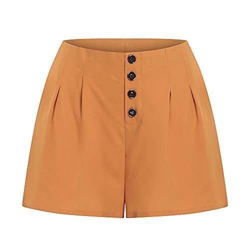N\P Ocio pantalones cortos delgados para las mujeres de verano suelto de gran tamaño pierna ancha