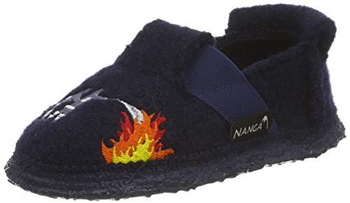 Nanga Unisex Kinder Feuerwehr Niedrige Hausschuhe, Blau (Blau 32), 27 EU