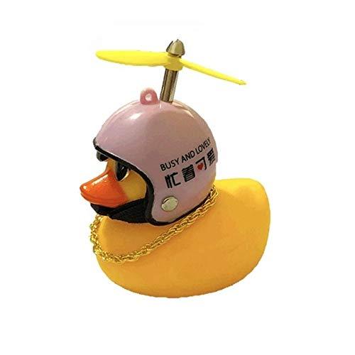 Adornos para el salpicadero del coche Navidad del coche regalo Styling montada en el casco amarillo pato salpicadero adorna los accesorios con la lámpara/sin lámpara (Color Name : 6 Without Lamp)