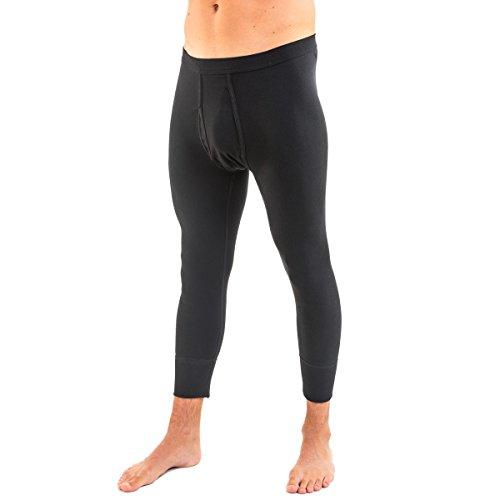 HERMKO 3440 2er Pack Herren 3/4-lange Unterhose (Weitere Farben) Bio-Baumwolle, Größe:D 7 = EU XL, Farbe:schwarz
