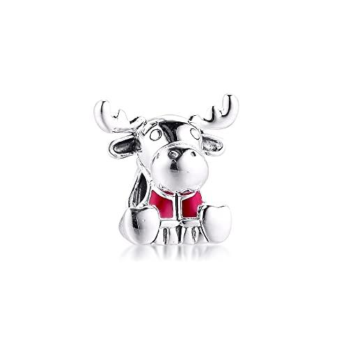 Pandora 925 Plata Canadá Moose Maple Leaf Charm Cuentas Genuinas Para Pulsera Joyería Fina Mujeres Diy Haciendo Un Regalo Exquisito