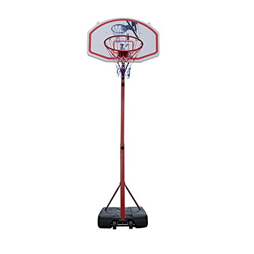 Benlet Youth 2.1M Height Adjustable Basketball Hoop System Stand with Net Goal Indoor Outdoor(US Stock)