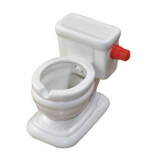EzzySo Creativa higiénico Cenicero, la Personalidad y de Moda Linda Cisterna del Inodoro, Divertidas y Regalos prácticos para el Novio