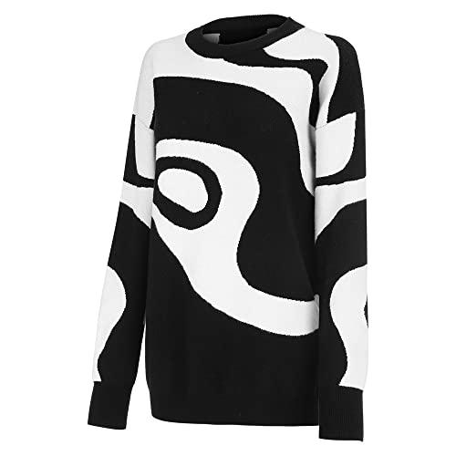 Suéter de Punto de Manga Larga para Mujer Ropa de Invierno Tire de la Ropa Femme