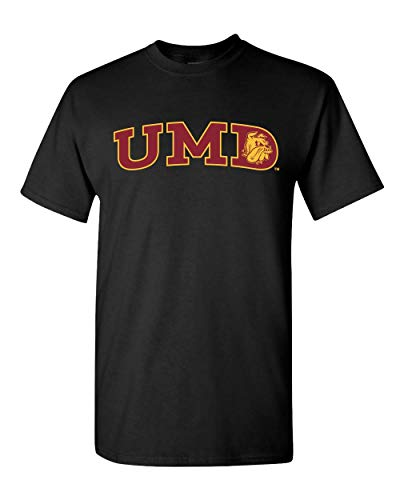 CreateMyTee   Minnesota Duluth UMD Two Color T-Shirt   Duluth Bulldogs Logo Apparel Mens/Womens T-Shirt (Black, Small)