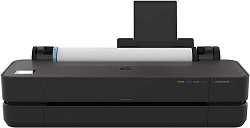HP DesignJet T250 Stampante per Grandi Formati da 61 cm 5HB06A, Formati supportati da A4 ad A1, velocità 76 Pagine A1 all'Ora, Gigabit Ethernet, USB Hi-Speed 2.0, Wi-Fi, Garanzia 2 Anni, Nero