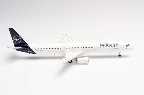 herpa Lufthansa Airbus A321 Die Maus in Miniatur zum Basteln Sammeln und als Geschenk, Mehrfarbig