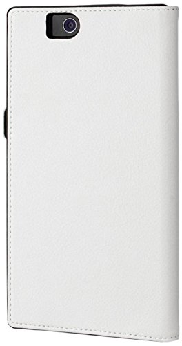 Blanc Etui-Custodia Sottile a Libro per Sony Xperia z Ultra